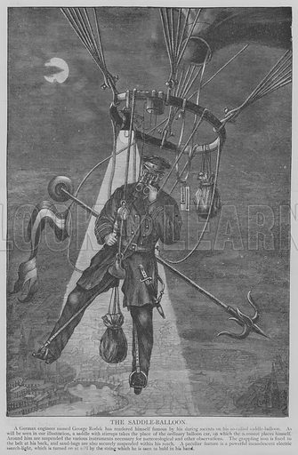 The Saddle-Balloon. Illustration for The Picture Magazine, 1894.