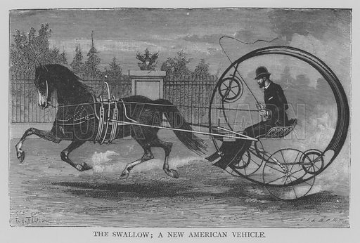 The Swallow, a New American Vehicle. Illustration for The Picture Magazine, 1894.