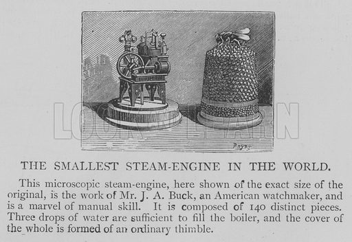The Smallest Steam-Engine in the World. Illustration for The Picture Magazine, 1894.