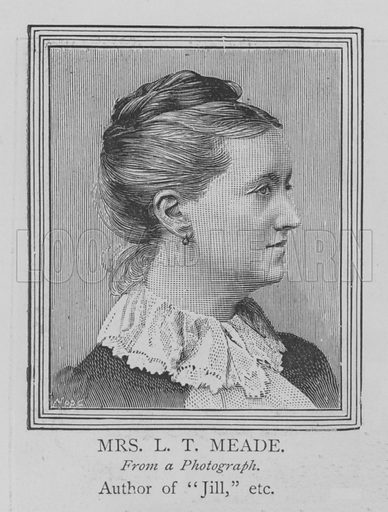 Mrs LT Meade. Illustration for The Picture Magazine, 1894.