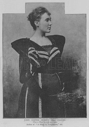 John Oliver Hobbes, Mrs Craigie. Illustration for The Picture Magazine, 1894.