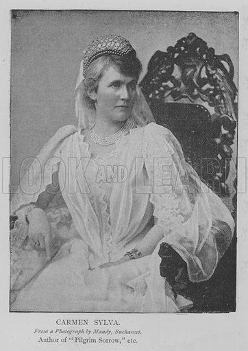 Carmen Sylva. Illustration for The Picture Magazine, 1894.