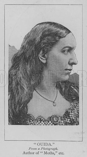 Ouida. Illustration for The Picture Magazine, 1894.