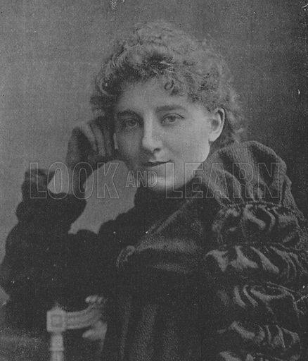 Miss Clara Savile Clarke. Illustration for The Picture Magazine, 1894.