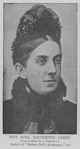 Miss Rosa Nouchette Carey. Illustration for The Picture Magazine, 1894.