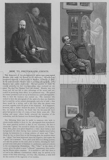 How to Photograph Ghosts. Illustration for The Picture Magazine, 1894.