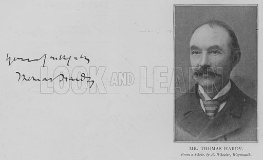 Mr Thomas Hardy. Illustration for The Picture Magazine, 1894.