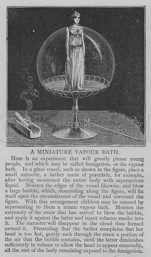 A Miniature Vapour Bath. Illustration for The Picture Magazine, 1894.