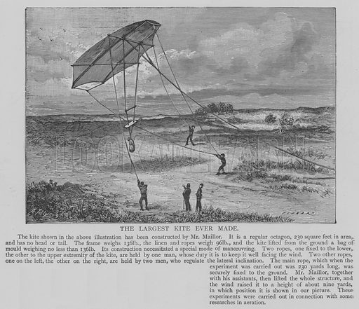 The Largest Kite Ever Made. Illustration for The Picture Magazine, 1894.