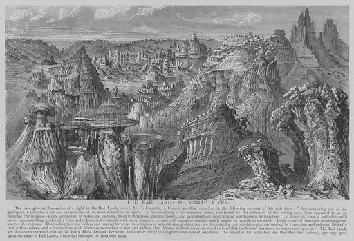 The Bad Lands of White River. Illustration for The Picture Magazine, 1894.