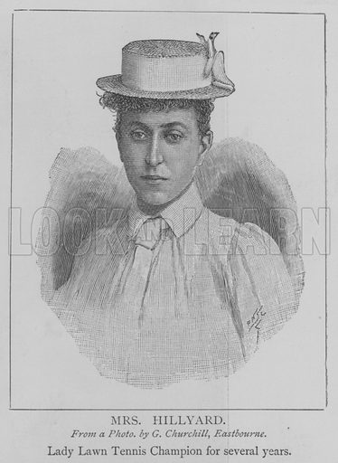 Mrs Hillyard. Illustration for The Picture Magazine, 1894.