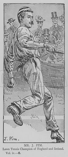 Mr J Pim. Illustration for The Picture Magazine, 1894.