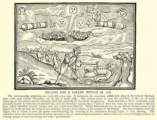 Digging for a Fallen Meteor in 1628. Illustration for The Picture Magazine, 1894.