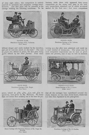 A Race of Automatic Carriages. Illustration for The Picture Magazine, 1894.