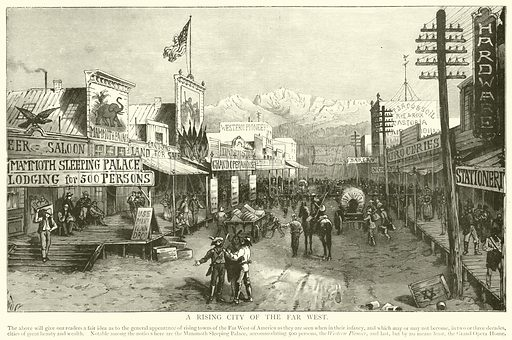 A Rising City of the Far West. Illustration for The Picture Magazine, 1894.