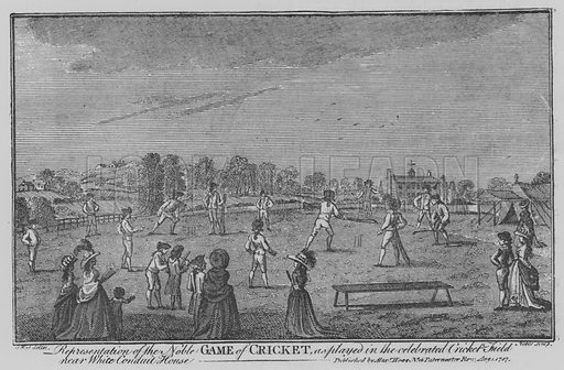 Game of Cricket. Illustration for The Picture Magazine, 1895.