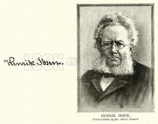 Henrik Ibsen. Illustration for The Picture Magazine, 1895.