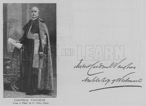 Cardinal Vaughan. Illustration for The Picture Magazine, 1895.