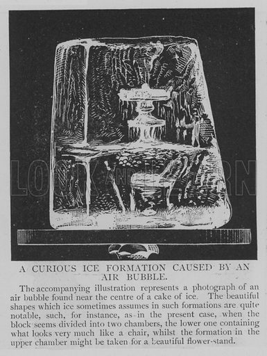 A Curious Ice Formation Caused by an Air Bubble. Illustration for The Picture Magazine, 1895.