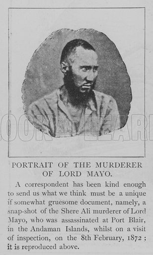 Portrait of the Murderer of Lord Mayo. Illustration for The Picture Magazine, 1895.