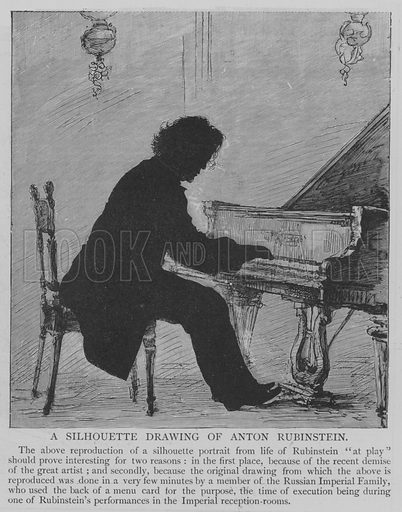 A Silhouette Drawing of Anton Rubinstein. Illustration for The Picture Magazine, 1895.