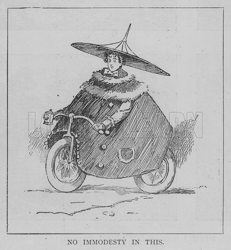 No Immodesty in this. Illustration for The Picture Magazine, 1895.