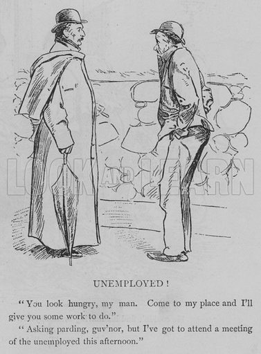 Unemployed! Illustration for The Picture Magazine, 1895.