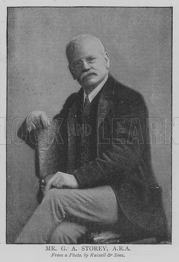 Mr GA Storey, ARA Illustration for The Picture Magazine, 1895.