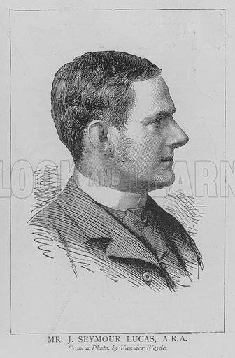 Mr J Seymour Lucas, ARA Illustration for The Picture Magazine, 1895.