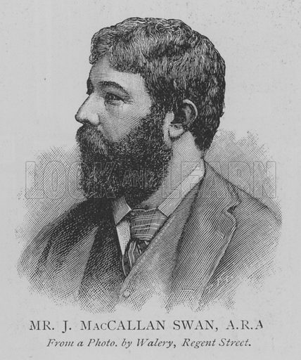 Mr J MacCallan Swan, ARA Illustration for The Picture Magazine, 1895.