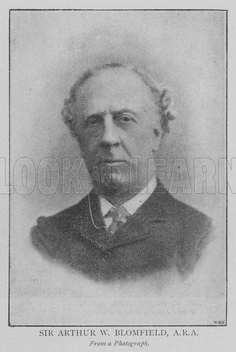 Sir Arthur W Blomfield, ARA Illustration for The Picture Magazine, 1895.