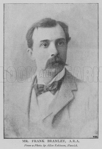 Mr Frank Bramley, ARA Illustration for The Picture Magazine, 1895.
