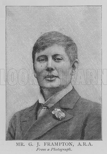 Mr GJ Frampton, ARA Illustration for The Picture Magazine, 1895.
