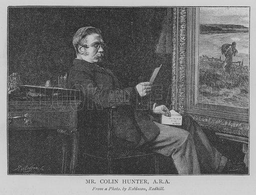 Mr Colin Hunter, ARA Illustration for The Picture Magazine, 1895.