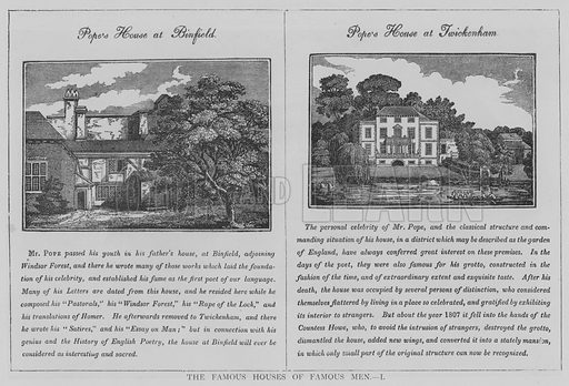 The Famous Houses of Famous Men, I Illustration for The Picture Magazine, 1895.