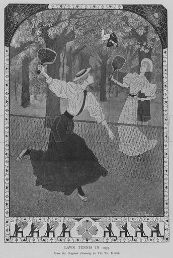 Lawn Tennis in 1995. Illustration for The Picture Magazine, 1895.
