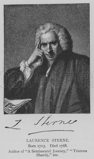 Laurence Sterne. Illustration for The Picture Magazine, 1895.