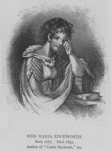 Miss Maria Edgeworth. Illustration for The Picture Magazine, 1895.