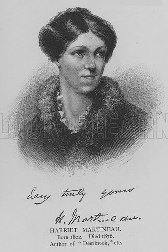 Harriet Martineau. Illustration for The Picture Magazine, 1895.
