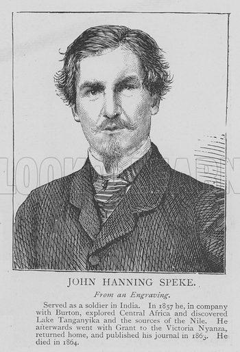 John Hanning Speke. Illustration for The Picture Magazine, 1895.