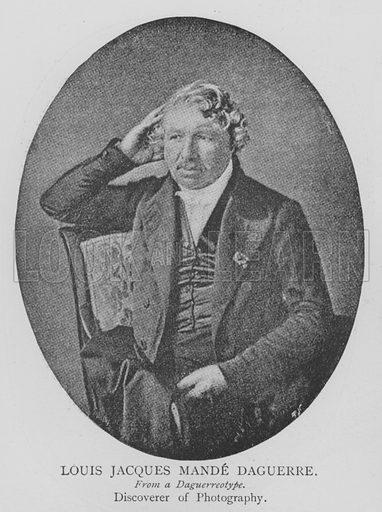 Louis Jacques Mande Daguerre. Illustration for The Picture Magazine, 1895.