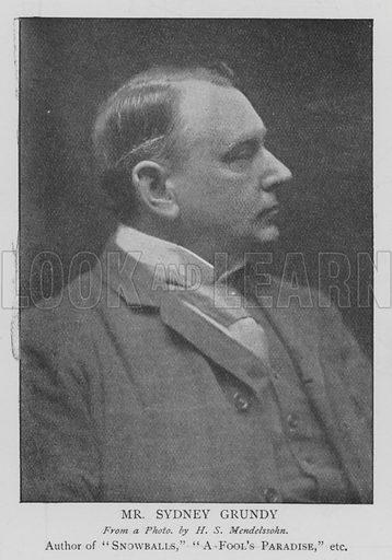 Mr Sydney Grundy. Illustration for The Picture Magazine, 1895.