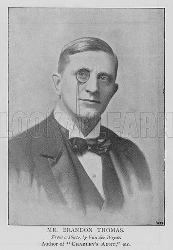 Mr Brandon Thomas. Illustration for The Picture Magazine, 1895.