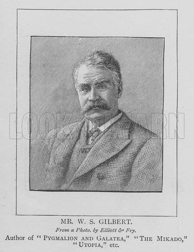 Mr WS Gilbert. Illustration for The Picture Magazine, 1895.