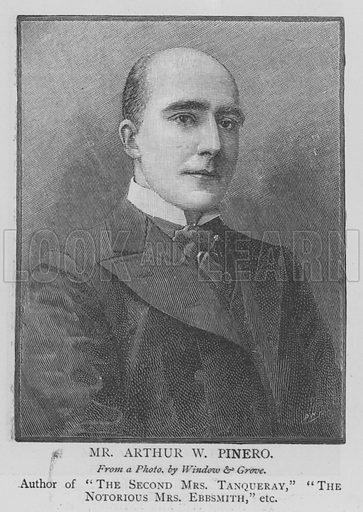 Mr Arthur W Pinero. Illustration for The Picture Magazine, 1895.