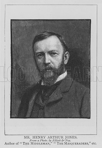 Mr Henry Arthur Jones. Illustration for The Picture Magazine, 1895.