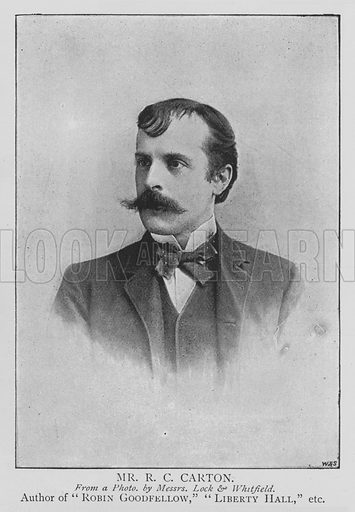Mr RC Carton. Illustration for The Picture Magazine, 1895.