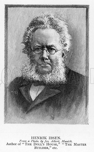 Henrik Ibsen. Illustration for The Picture Magazine, 1895.