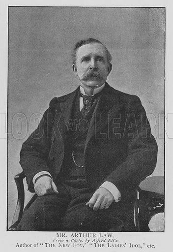 Mr Arthur Law. Illustration for The Picture Magazine, 1895.