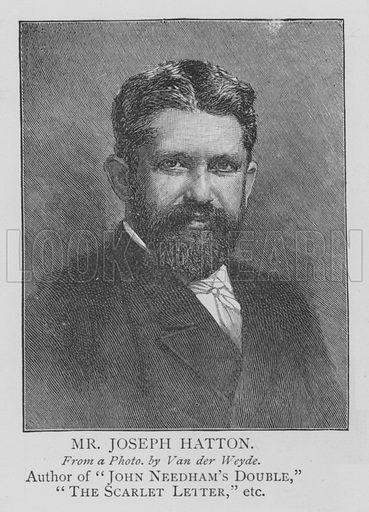 Mr Joseph Hatton. Illustration for The Picture Magazine, 1895.